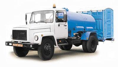 Вакуумная машина КО 503В-3 на шасси ГАЗ-3307 (для биотуалетов)