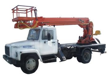 Автогидроподъемник ПСС-131.22Э (АПТ-22) на шасси ГАЗ-3309