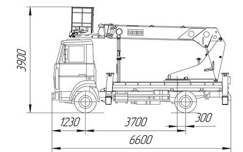 Автогидроподъемник ПСС-131.22Э (АПТ-22) на шасси МАЗ-437043