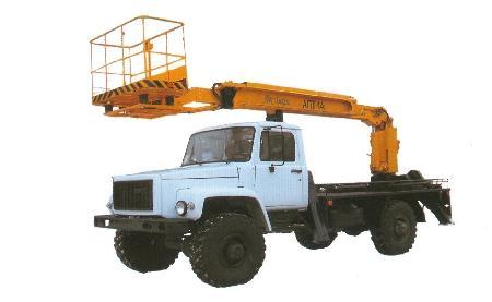 Автогидроподъемник АПТ-14 на шасси ГАЗ-33081