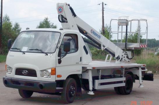 Автогидроподъемник АГП-14 (B-Lift 150) на шасси ISUZU NPR75, Hyundai НD65, Nissan Cabstar
