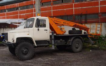 Автогидроподъемник ПСС-131.14Э (АПТ-14) на шасси ГАЗ-33081