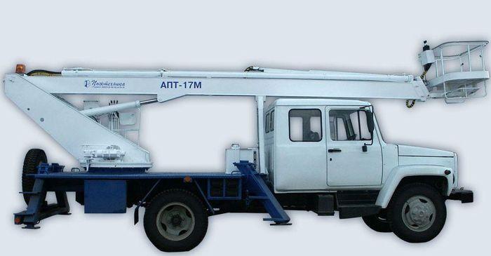 Автогидроподъемник ПСС-131.17Э (АПТ-17М) на шасси ГАЗ-33086