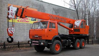 Автокран МКТ-25-7 Ульяновец на шасси КамАЗ-43118