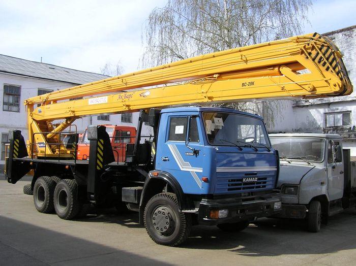 Автогидроподъемник ВС-28 на шасси КамАЗ-65115 (6x2)