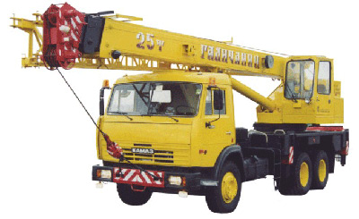 Автокран КС 55713-1 Галичанин на шасси КамАЗ 65115 с гуськом