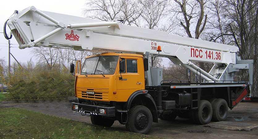 Автогидроподъемник ПСС-141.36 (АГП-36.01) на шасси КамАЗ