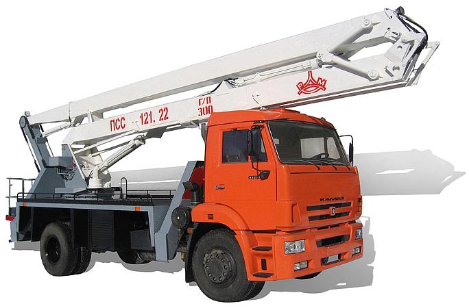 Автогидроподъемник ПСС-121.22 (АГП-22.04) на шасси КамАЗ-43253 (4x2)