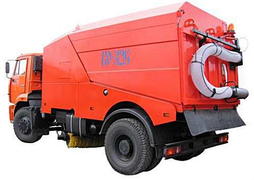 КО-326-02 - Вакуумная подметально-уборочная машина на шасси КАМАЗ