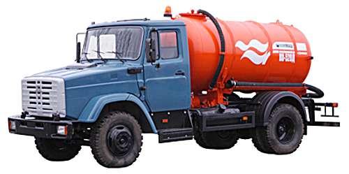 КО-520 - Машина вакуумная (ассенизационная) на шасси ЗИЛ